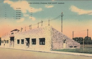 FORT SCOTT , Kansas, 30-40s; High School Sports Stadium