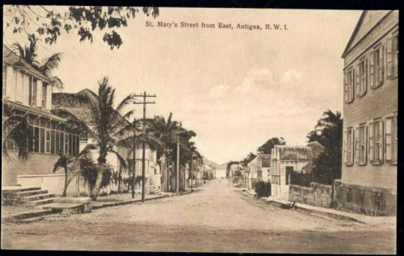 Antigua, b.w.i., St. Mary's Street from East (1910s)