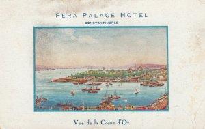 CONSTANTINOPLE , Turkey , 1900-10s ; Vue de la Corne d'Or , Pera Palace Hotel