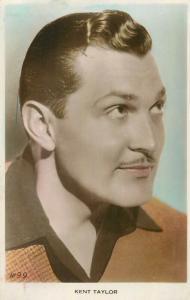 Kent Taylor film actor postcard