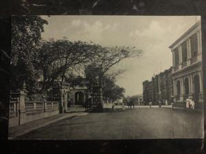 Mint Colombo RPPC Postcard Queen Street Showing Queen House
