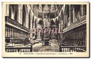 Postcard Old Toulouse Cathedrale Saint Etienne Choir