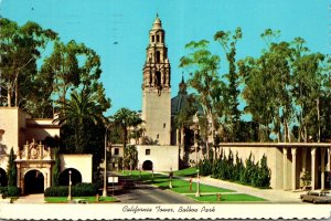 California San Diego Balboa Park California Tower 1977