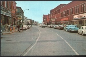 PEI Water Street SUMMERSIDE'S Main Street Business Section 1950s cars - Chrome