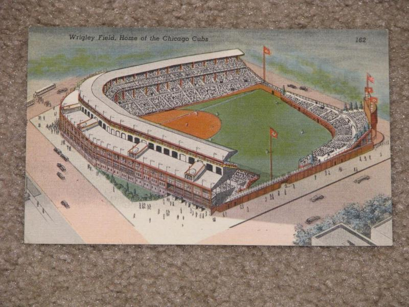Wrigley Field, Home of the Chicago Cubs, unused vintage card