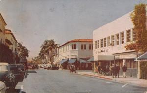 Palm Beach FL Decman's~North Ave~Bldg w/Clay Tile Roof~1940s Cars~Pedicab