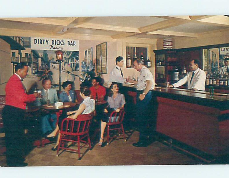 Pre-1980 DIRTY DICK'S TAVERN BAR RESTAURANT Nassau Bahamas F5731@