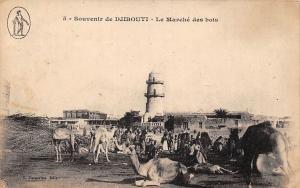 Djibouti Souvenir - Le Marche des bois, camels, market