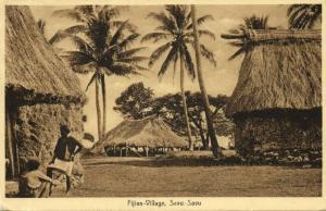 fiji islands, SAVU-SAVU, Native Fijian Village (1932)