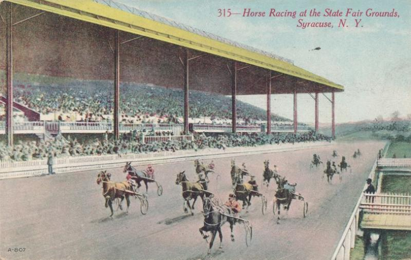 Harness Horse Racing at State Fair Grounds - Syracuse NY - DB - Rudolph Brothers