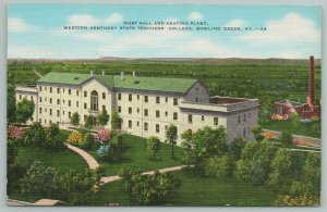 Bowling Green Kentucky~West Hall~Heating Plant~College~Vintage Postcard