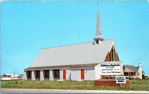 Fenwick Island Postcard 1950s St Mathews By the Sea Chrome Brueckmann MG