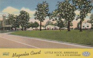 Arkansas Little Rock Magnolia Court Curteich sk4662