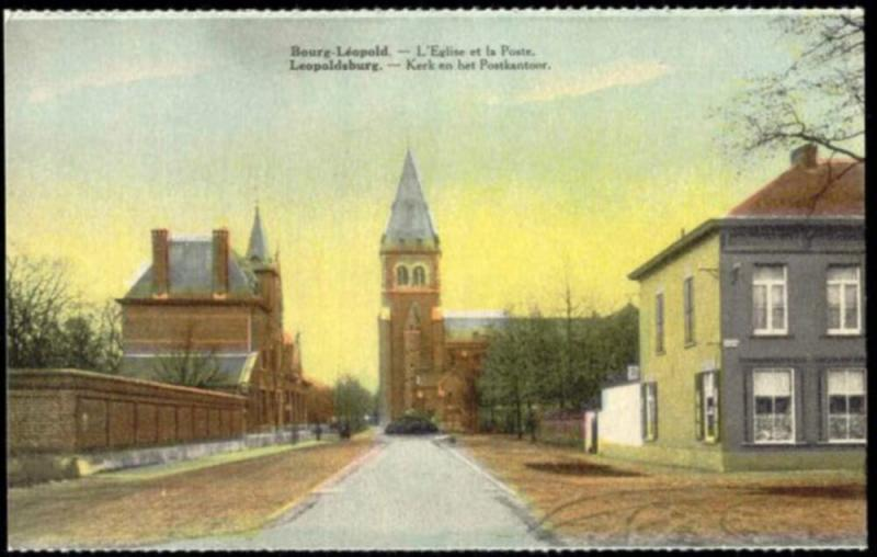 belgium, BOURG-LEOPOLD LEOPOLDSBURG, Post Office, Church (1910s)