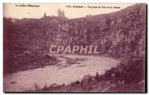 Old Postcard Crozant View from the Bridge of the Creuse