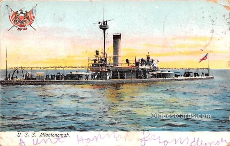 Military Battleship Postcard, Old Vintage Antique Military Ship Post Card U.S...