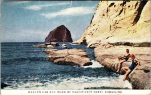 LOT OF 6 Oregon OR Columbia River Highway OCEAN Postcard Old UNPOSTED Vintage PC
