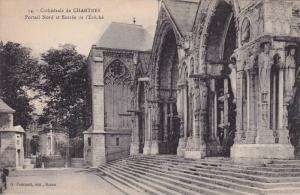Cathedrale de CHARYRES, Portail Nord et Entree de l'Eveche, Eure et Loir, Fra...
