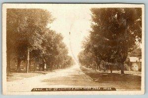 York NE~6th Street Homes~Looking East From Nebraska Street~1908 RPPC