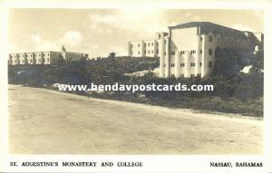bahamas, NASSAU, St. Augustine's Monastery and College (1950s) RPPC Architecture