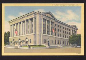 MONTGOMERY ALABAMA UNITED STATES POST OFFICE VINTAGE POSTCARD