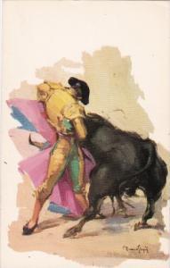 Bull Fight Matador With Bull