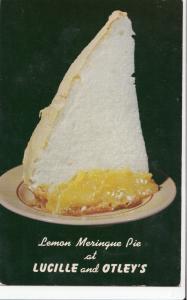 Lemon Meringue Pie at LUCILLE and OTLEY'S RESTAURANT, unused Postcard