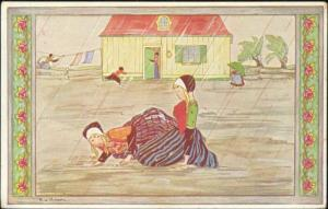 artist signed RIE CRAMER, Old Children's Songs (1930s) (3)