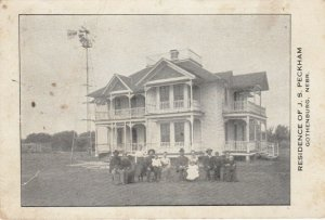 GOTHENBURG, Nebraska, 1900-10s ; Residence of J.S. Peckham, Genealogy on back