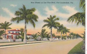 Florida Fort Lauderdale New Homes On Las Olas Boulevard Curteich