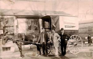 East Bridgewater MA Belmont Baking Co. Delivery Horse & Wagon Brockton Postcard
