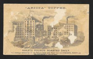 VICTORIAN TRADE CARD Ariosa Coffee Black Man Fishing