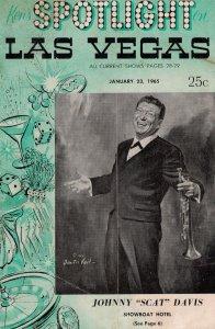 Spotlight On Las Vegas Johnny Jazz Scat Davis 1965 Theatre Guide