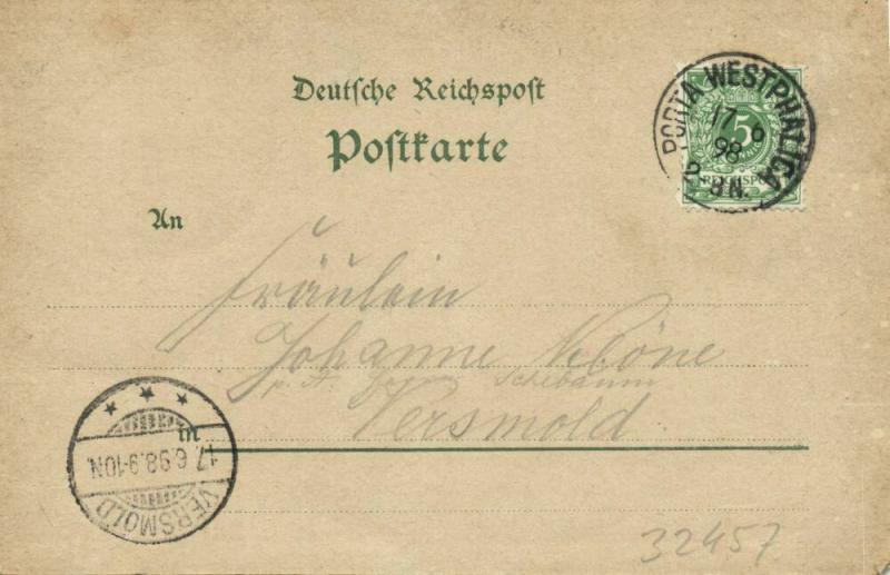 PORTA-WESTFALICA, Mehrbildkarte Gruss vom Wittekindsberg (1898) Litho-AK
