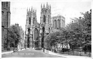 West Front York Minster, Auto, Cars 1951