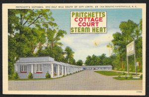 Pritchetts Cottage Court Fayetteville North Carolina Unused c1940s