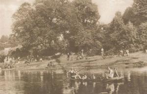 Knaresborough Yorkshire Punting On The River Nidd Large Postcard