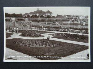 SKEGNESS North Parade SUNKEN GARDENS & TENNIS COURTS c1938 RP Old Postcard
