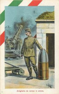 Artiglieria da campo Signed Polli Italy Italia cannon shot atillery soldier WW1