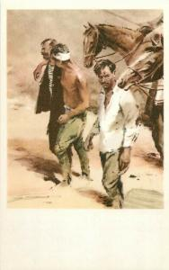 Illustrations by Yury Petrovich Rebrov - Red Army prisoners