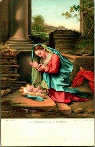 Firenze - La Vergine - E Il S Enfant -correggio Par Stengel & Co No.29846 Litho