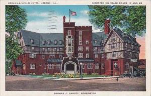 Illinois Urbana Urbana Lincoln Hotel Situated On State Roads To And 25 1940