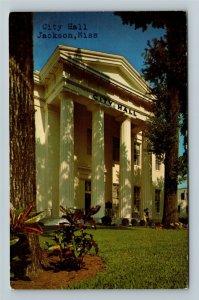 Jackson MS-Mississippi, City Hall, Chrome Postcard