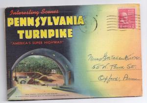 Pennsylvania Turnpike PA Souvenir Picture Folder 16 Views