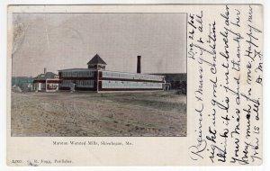 Skowhegan, Me, Marston Worsted Mills