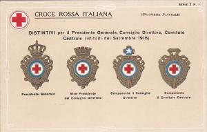 Red Cross ; Emblems of Croce Rossa Italiana , 1916