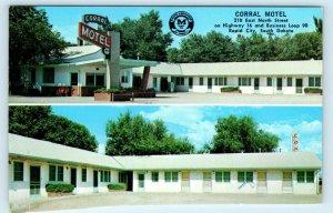 RAPID CITY, SD South Dakota~ CORRAL MOTEL  c1960s Roadside  Postcard