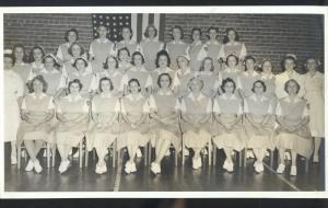 REAL PHOTO PHOTOGRAPH 6X11 CHATTANOOGA TENNESSEE NURSE SCHOOL NURSING 1942