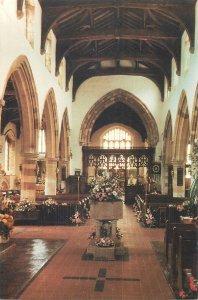 British Postcard Irchester St Katharine's Church interior view