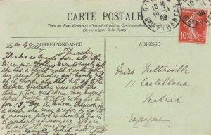 BIARRITZ , France; 1909 ; Une partie de pelote basque au Fronton de Biarritz